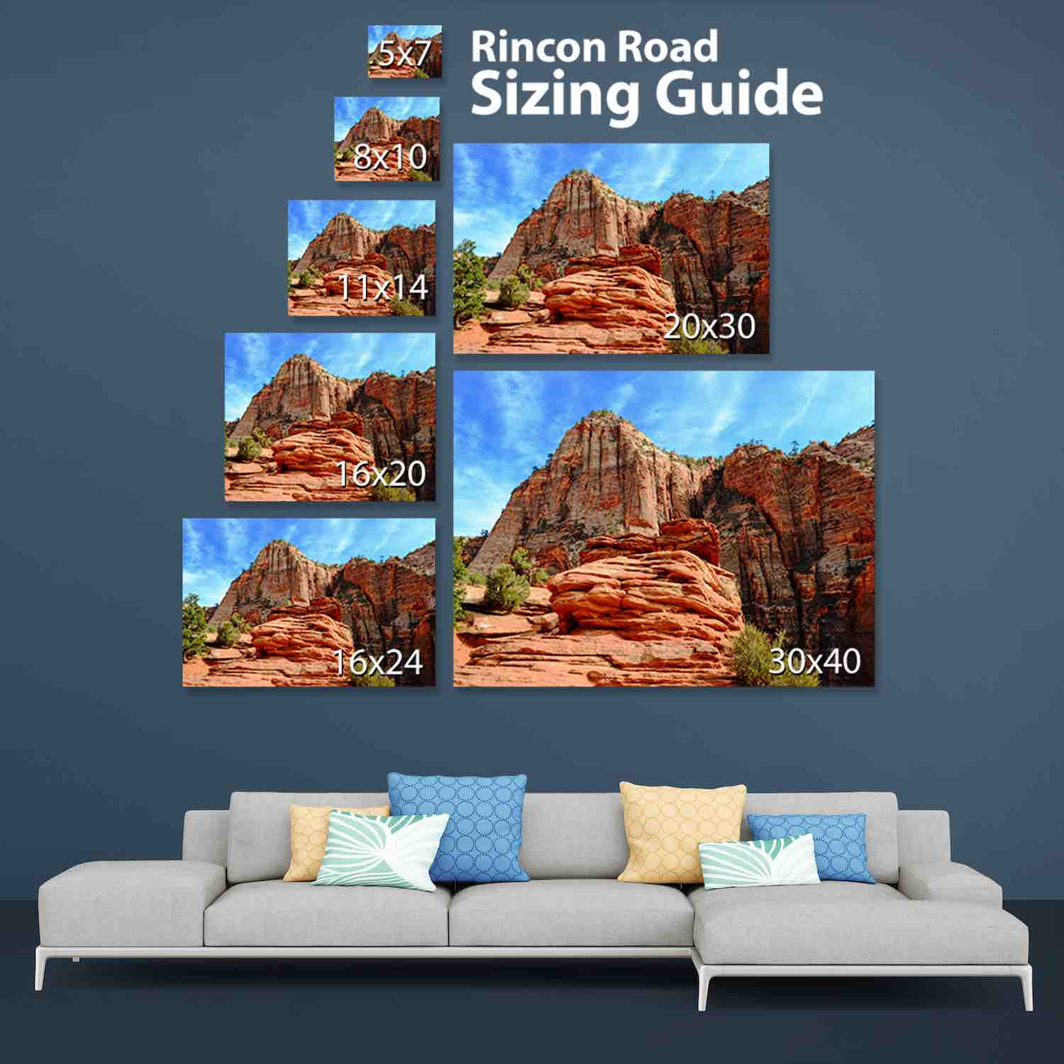 Rincon Road Photography Sizing Guide